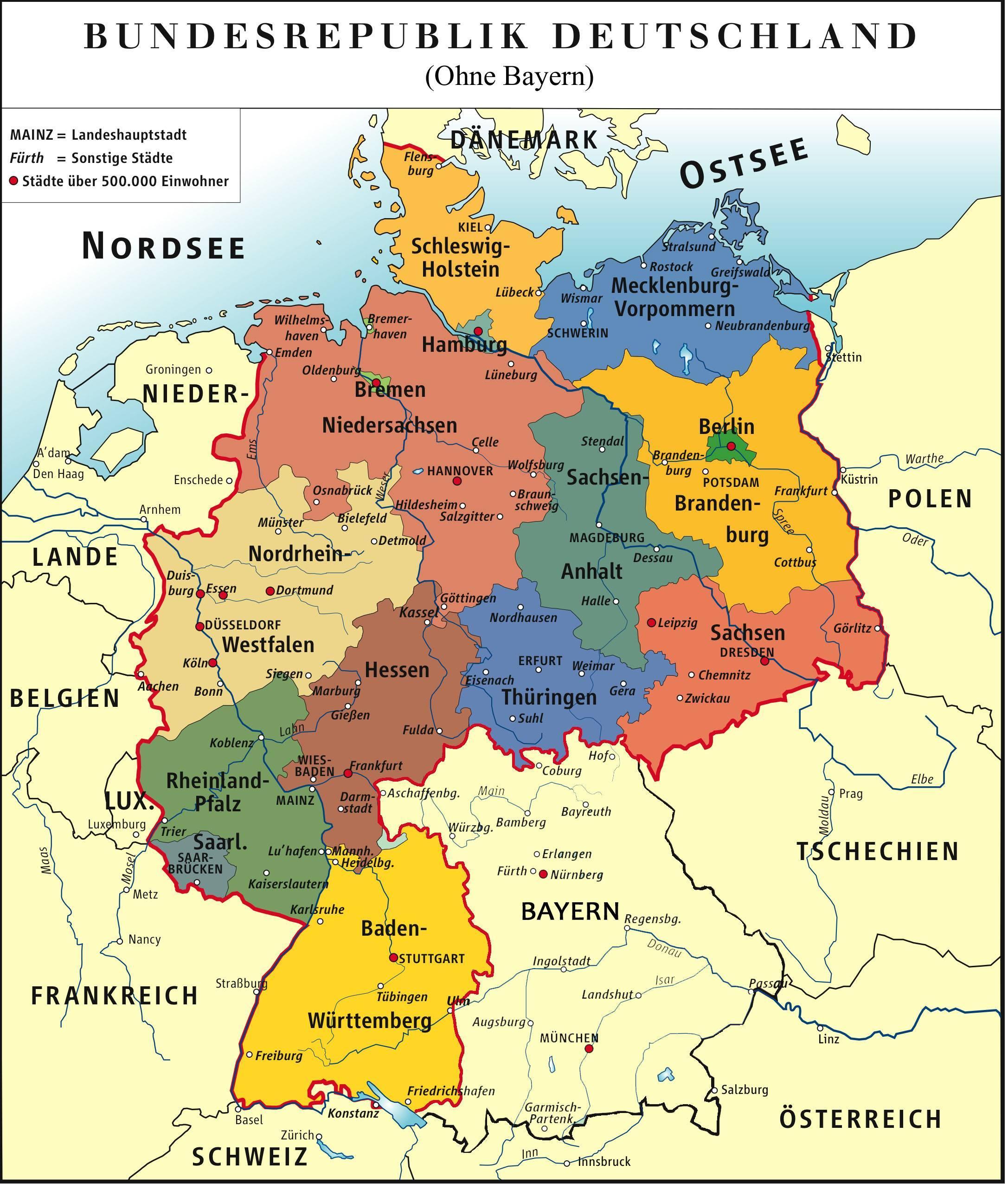 Bayern Duitsland Kaart Bayern Munchen Kaart Beieren Duitsland