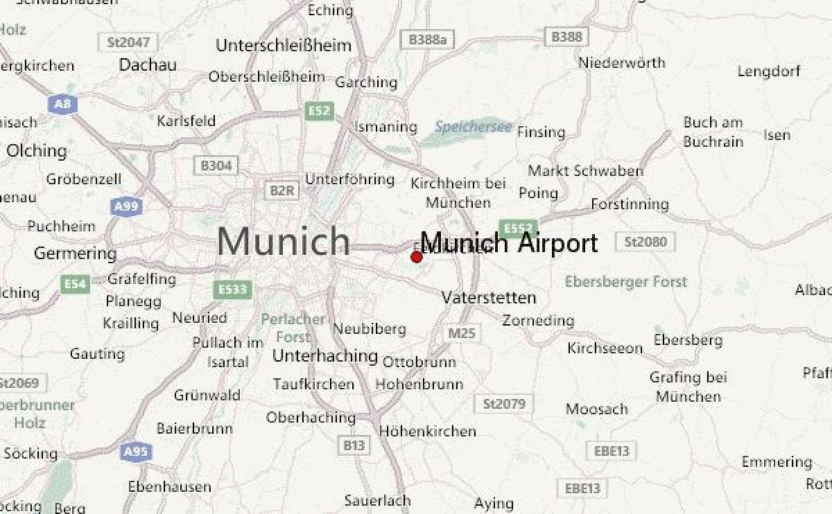 Kaart Van Munchen Duitsland En Omgeving Kaart Van Munchen En