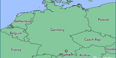 Munchen Kaart Kaarten Munchen Beieren Duitsland